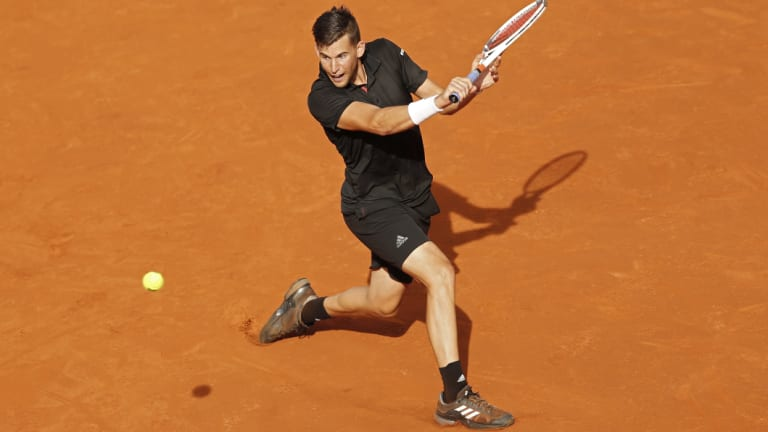 Austrian world No.7 Dominic Thiem piles on the aggression in the Madrid Open quarter-final.