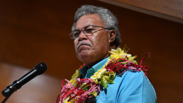 "Tuvalu's Prime Minister Enele Sopoaga says ""the current thing on the table now is to call for the end of coal mining""."