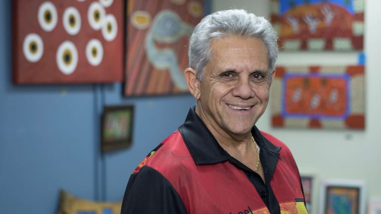 Indigenous artist and owner of Dreamtime Kullilla-Art Michael Connolly.