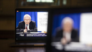 Warren Buffett's address to investors was held virtually for the second consecutive year because of the pandemic.