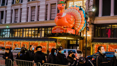Numbers were down in New York, but it still promises to be one of the biggest shopping days of the year.