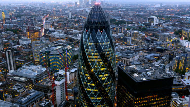 The iconic London 'Gherkin' building is part of the family's real estate portfolio.