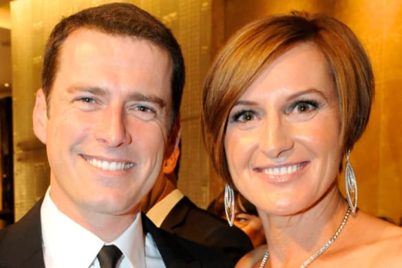 Karl Stefanovic and his ex-wife Cassandra Thorburn at the Logies in 2011.