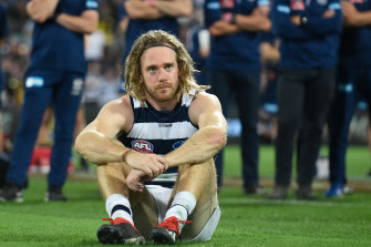 Though the result of last year's grand final is still fresh in Cam Guthrie's memory, he's moving forward and focused on what the Cats can achieve in the future.