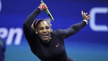 Serena Williams barely raised a sweat in thrashing Maria Sharapova.
