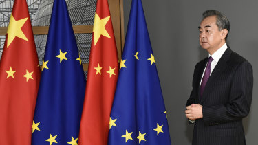 Diplomatic unequals: EU and China. Pictured: Chinese Foreign Minister Wang Yi.