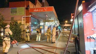Fire crews on Murrumbeena Road