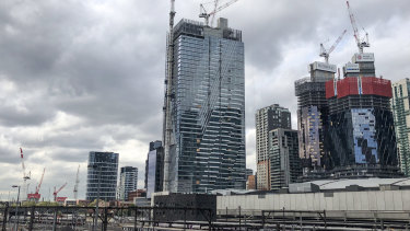 Demand for high-rise apartments that dot the Melbourne skyline has slumped.