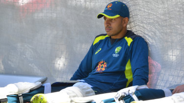 """""""Shocked"""": Justin Langer says the Test side is rallying around Usman Khawaja after the arrest of his brother."""