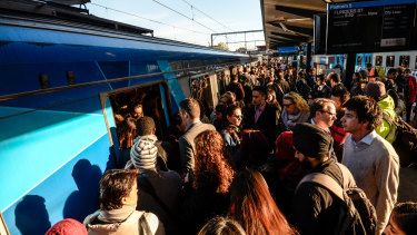 Commuters continue to feel the crush on Metro's afternoon peak-hour trains.