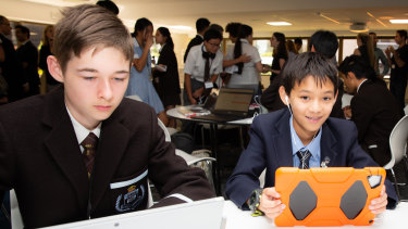'We're looking for primary and secondary information, the kinds of things you might not realise are on social media,' said Nathaniel Jones (left) from Sydney Boys High School.