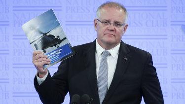 Prime Minister Scott Morrison addresses the National Press Club of Australia in Canberra.