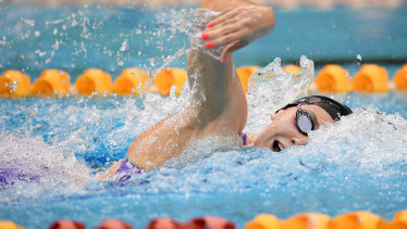 Ariarne Titmus in the 200m freestyle final.
