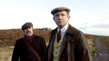 Andy Nyman andMartin Freeman in Ghost Stories.