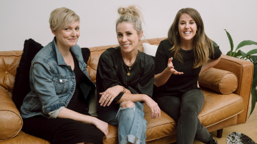 The co-founders of FranklyCo: Emma Startup, Dee Behan and Oonagh Geoghegan.