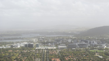 A dust storm covered the city last weekend in Canberra.