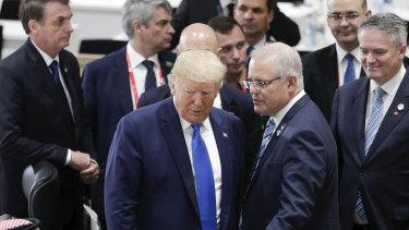 US President Donald Trump and Australian Prime Minister Scott Morrison last met at the G20 Summit in Osaka.