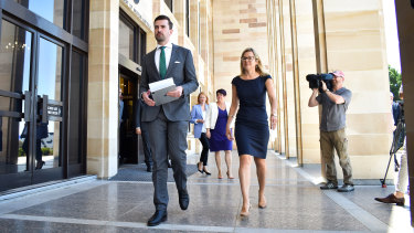 New WA opposition leader Zak Kirkup with his deputy Libby Mettam.