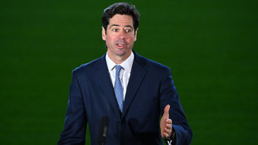 Strict protocols: AFL chief Gillon McLachlan has released the league's list of directives for players ahead of the season reboot.