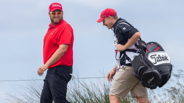 In the zone: Aaron Pike hit an eagle on the third at The Lakes.