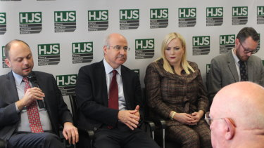 Russian opposition politician Vladimir Kara-Murza, Magnitsky Act campaigner Bill Browder, US talk show host Meghan McCain and Dr Andrew Foxall discuss Russian interference in the West in London.
