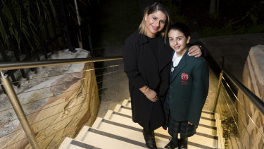 Colleen Ozdemir and her daughter Sienna, who moved from a Catholic to a private school in year 5.