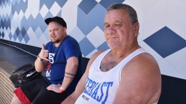 Struggling in Clarkson: Josh, 29, and Pat, 63, are both in between jobs and dealing with health issues.
