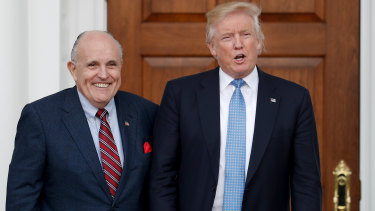 Rudy Giuliani said it was not his job to let White House staff know what he's doing.