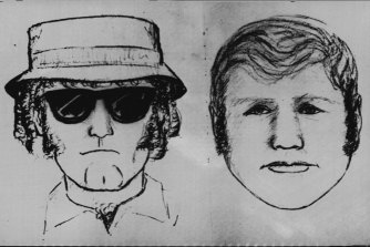 Identikit pictures of the two suspects in the kidnapping.