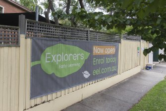 The Explorers Early Learning centre in Armadale is closed on Monday as it undergoes a deep clean.