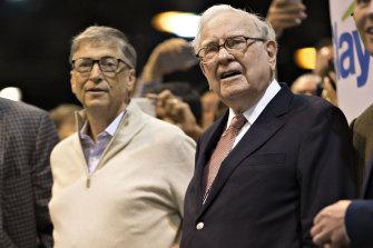 Warren Buffett, right, and Bill Gates, pictured in 2017.