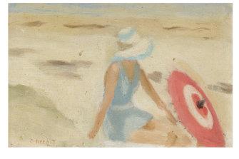 Clarice Beckett, Australia, 1887-1935, The Red Sunshade.