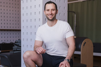 Physiotherapist Paul Dardagan at his Pyrmont allied health clinic and pilates studio, bounceREHAB.
