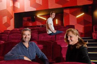 Independent cinema operators Eddie, Raphael and Lindy Tamir.
