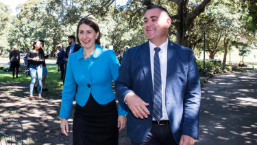 Gladys Berejiklian and Deputy Premier John Barilaro announced their new cabinet on Sunday.