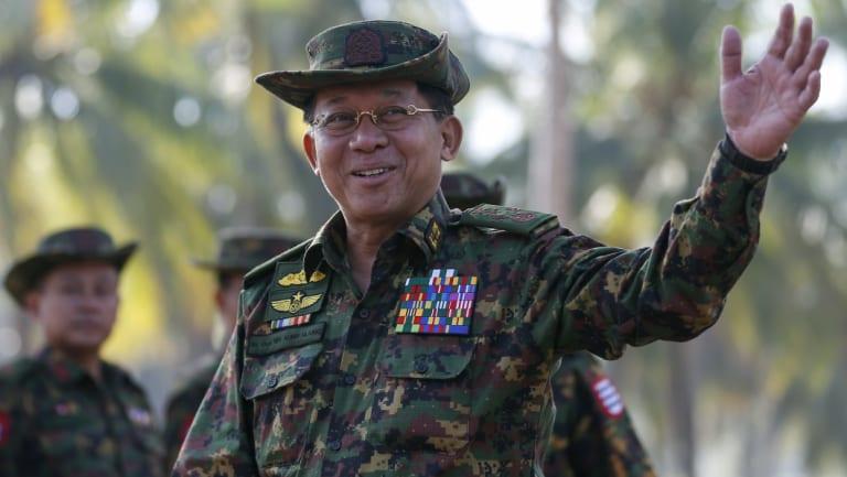 Myanmar military commander-in-chief Senior General Min Aung Hlaing.