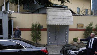 The Saudi Arabian consulate in Istanbul, which he entered to obtain a divorce papers.