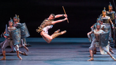 The athleticism of the Bolshoi principal dancers, such as Alexander Volchkov, were testament to the masculinity of ballet.