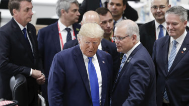 US President Donald Trump and Australian Prime Minister Scott Morrison last met at the G20 Summit in Osaka.