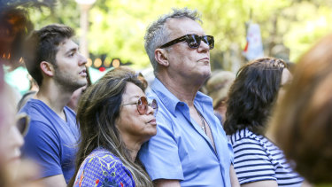 Rock icon Jimmy Barnes among the crowd on Saturday.