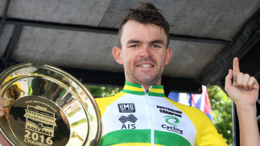 Where did it all go wrong?: Jack Bobridge takes out the Australia road title in 2016.