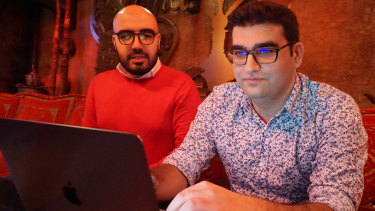 Certfa researchers Nariman Gharib, left, and Amin Sabeti gathered data on hacking attempts by Iranian operatives.