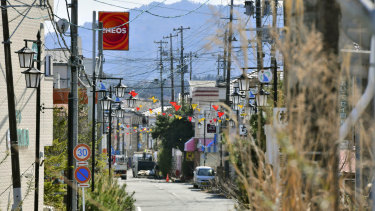The central area of Okuma town, Fukushima, Japan, where evacuation orders have been partially lifted for the first time since the 2011 disaster.