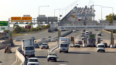 Traffic has increased by 5 per cent to 123,000 vehicles every day on the upgraded Gateway Motorway.