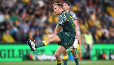 Reece Hodge missed a last gasp penalty which would have won the match for the Wallabies.