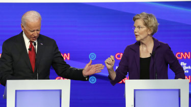 The frontrunners for the Democratic candidacy, former vice-president Joe Biden and Senator Elizabeth Warren, presented competing visions at the party's latest debate.