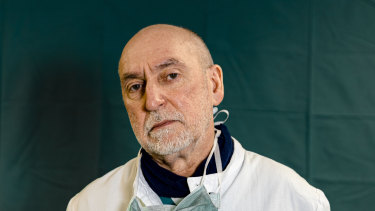 Director of the Intensive Care unit Gabriele Tomasoni, 65, at Brescia Spedali Civic Hospital.