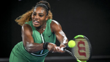 Serena Williams in action at this year's Open.