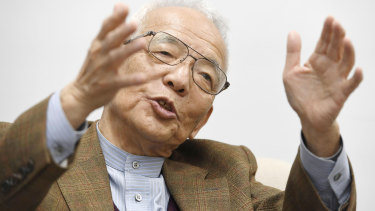Syukuro Manabe, pictured in 2017, has won the Nobel Prize in Physics with two other scientists.