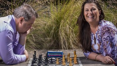 Former World Girls' Chess champion Katrin Aladjova, playing Chess against Victoria's Leonid Sandler, who says 'The Queens Gambit' will definitely help raise women's profile in the game.